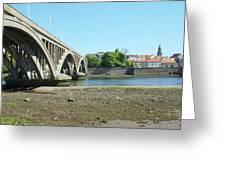 new road bridge across river Tweed at Berwick-upon-tweed Greeting Card