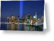New York City 9/11 Commemoration  Greeting Card