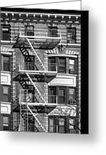 New York City Fire Escapes Greeting Card