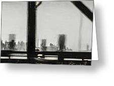 New York City From The Bridge #nyc #cityscape Greeting Card