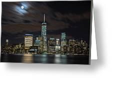 New York City Skyline At Night Greeting Card