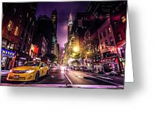 New York City Street Greeting Card