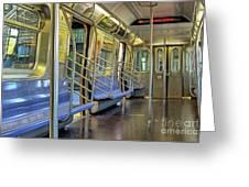 New York City Empty Subway Car Greeting Card