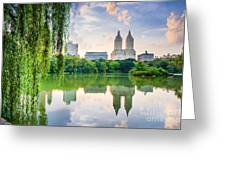 New York City, Usa At The Central Park Greeting Card