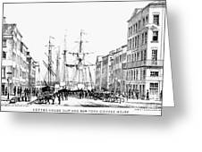 New York Docks, 1856 Greeting Card