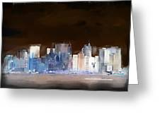 New York Skyline Illustration 1 Greeting Card