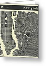 New York Map 3 Greeting Card