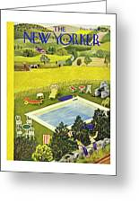 New Yorker August 10th 1946 Greeting Card
