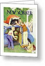 New Yorker August 24th 1946 Greeting Card