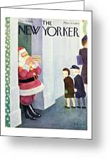 New Yorker December 14th 1946 Greeting Card