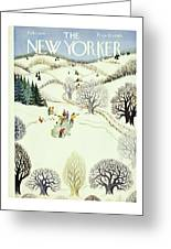 New Yorker February 1st 1947 Greeting Card