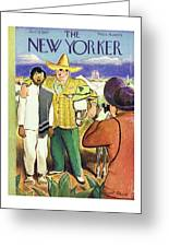 New Yorker January 11th 1947 Greeting Card
