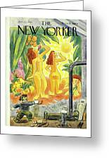 New Yorker January 25th 1947 Greeting Card