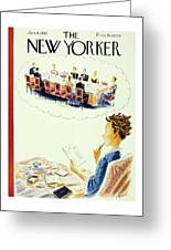 New Yorker January 4th 1947 Greeting Card