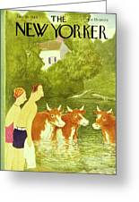 New Yorker July 10th 1943 Greeting Card