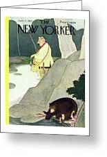 New Yorker June 21st 1947 Greeting Card