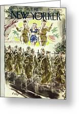 New Yorker November 7th 1942 Greeting Card