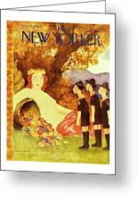 New Yorker October 9th 1943 Greeting Card