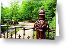 New York's Central Park Winterdale Arch Railing Cast Iron Art Greeting Card