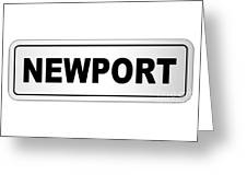 Newport City Nameplate Greeting Card