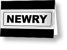 Newry City Nameplate Greeting Card