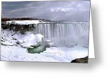 Niagara Falls Late Winter Greeting Card