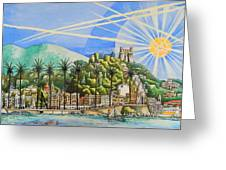 Nice Waterfront Greeting Card