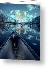 Night Blues Reflections  Greeting Card