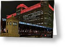 Night City Colors Greeting Card