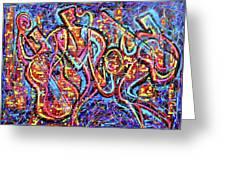 Night City Jazz Greeting Card