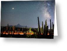 Night On Santiam Pass Greeting Card