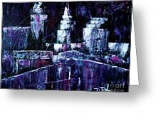 Night Town Cle Greeting Card