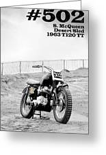 No 502 Mcqueen Desert Sled Greeting Card