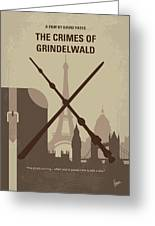 No1042 My The Crimes Of Grindelwald Minimal Movie Poster Greeting Card