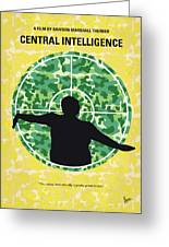 No1049 My Central Intelligence Minimal Movie Poster Greeting Card