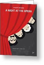 No1053 My A Night At The Opera Minimal Movie Poster Greeting Card