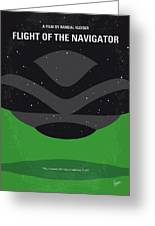 No1067 My Flight Of The Navigator Minimal Movie Poster Greeting Card