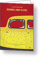 No1072 My Bonnie And Clyde Minimal Movie Poster Greeting Card