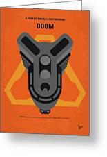 No1075 My Doom Minimal Movie Poster Greeting Card
