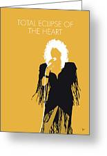 No264 My Bonnie Tyler Minimal Music Poster Greeting Card