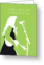 No276 My Alison Krauss Minimal Music Poster Greeting Card