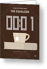 No973 My The Equalizer Minimal Movie Poster Greeting Card