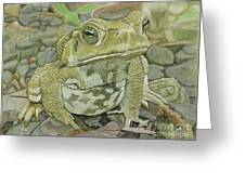 Noble Toad Greeting Card