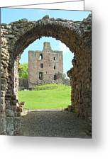 Norham Castle And Entrance Gate Greeting Card