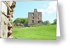 Norham Castle Tower Greeting Card