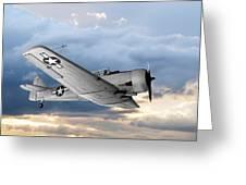North American T-6 Texan Military Aircraft Greeting Card