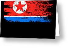 North Korea Shirt Gift Country Flag Patriotic Travel Asia Light Greeting Card