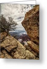 North Rim Fog 1 - Grand Canyon National Park - Arizona Greeting Card