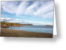 North Shore Black Beach Greeting Card by Susan Rissi Tregoning