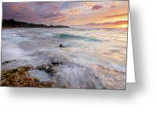 North Shore Sunset Surge Greeting Card